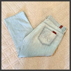 "🆕🦋 7FAM Crop ""A"" Pocket Jeans, Size 30"